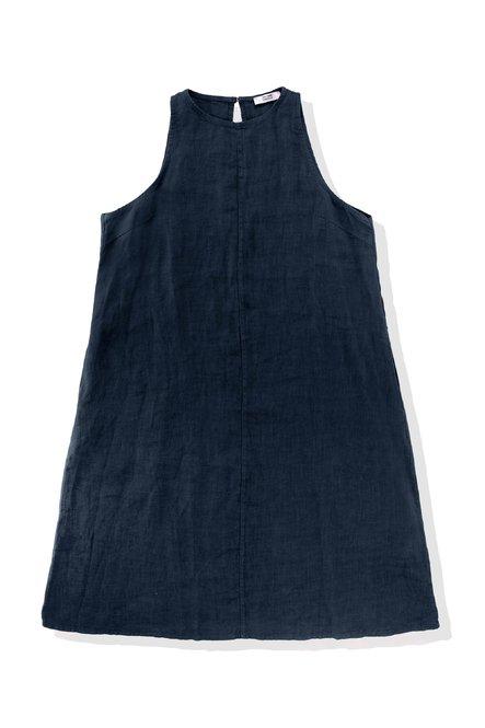 Ärmelloses Kleid aus Leinen