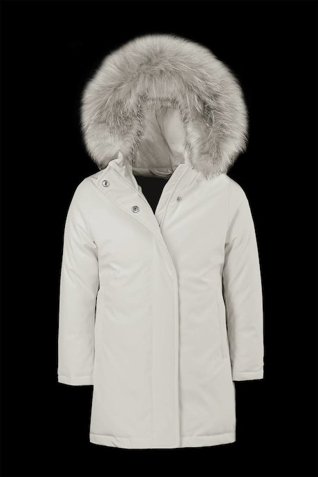 Girl's parka in softshell