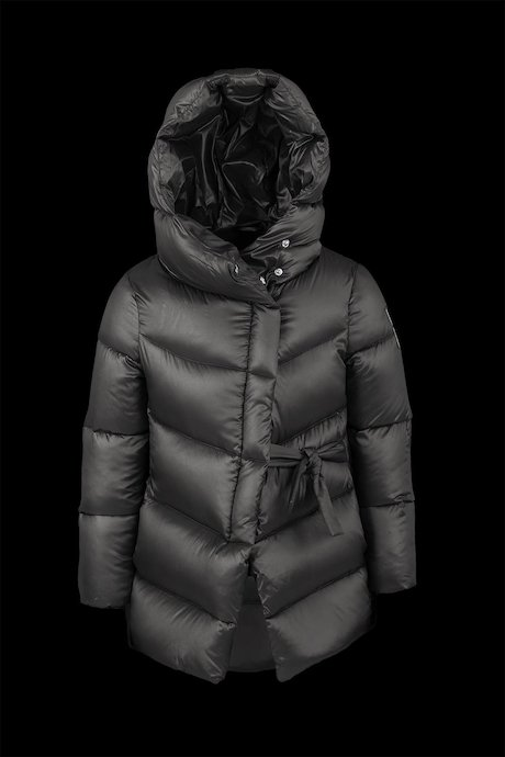 Down Jacket Asymmetric Fastening