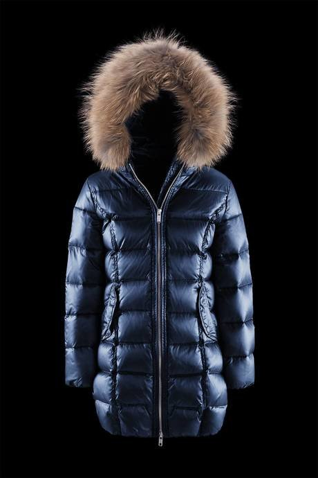 Long Shiny Down Jacket Fur Inserts