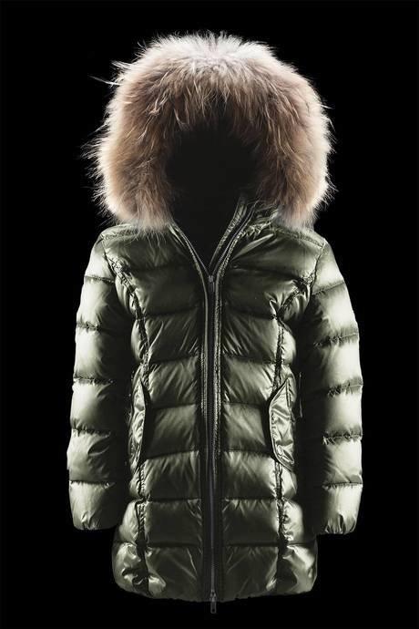 Long Shiny Down Jacket Fur Inserts