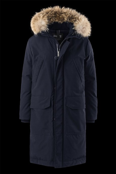 Parka Multipoches Insertions Fourrure