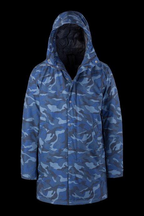 Herren wattierte Winterjacke Camouflage
