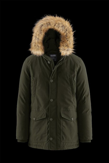Padded Multi Pocket Parka Faux Fur Inserts