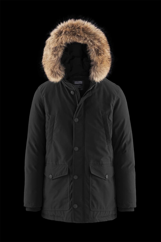 Padded Multi Pocket Parka Fur Inserts