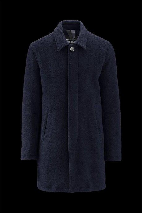 Wollmischung Mantel mit Kragen