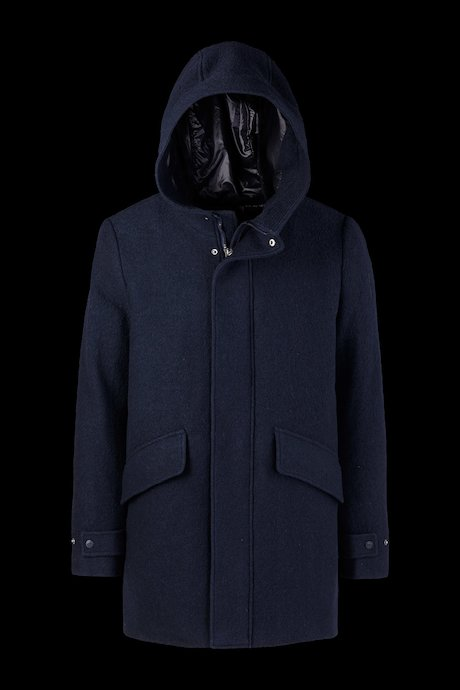 Coat Woollen Blend Hood
