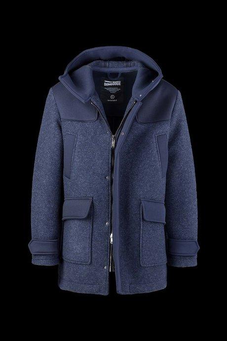 Bimaterial Mantel mit Kapuze