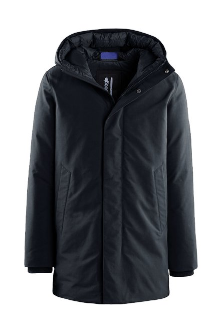 Real down coat with hood