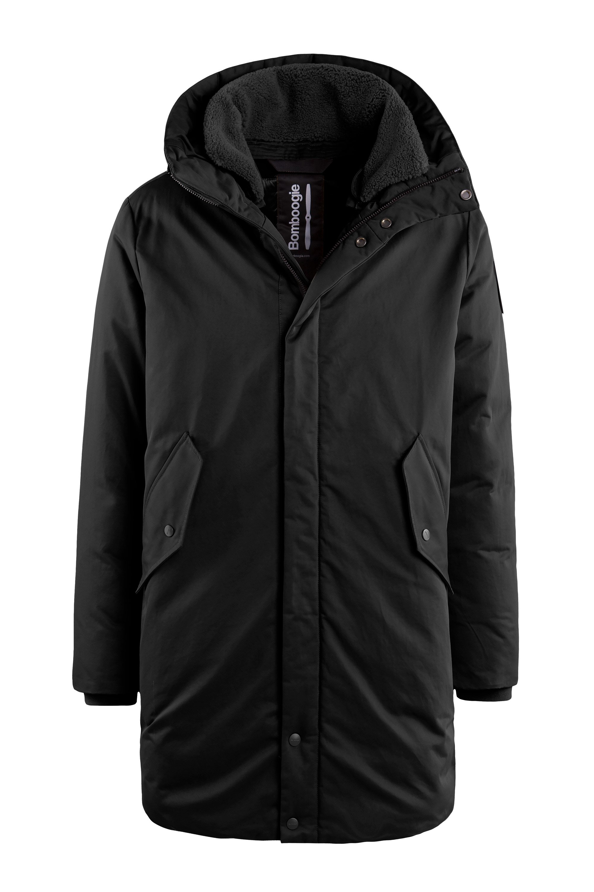Long coat with visor PrimaLoft® PowerplumeTM padding