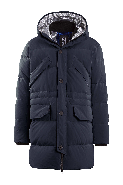 Multipocket long coat