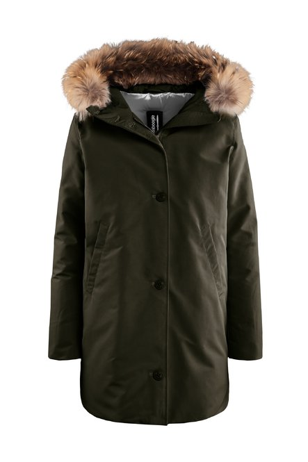 Padded parka fur hood profile