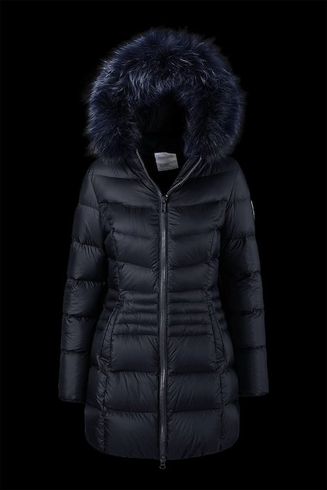 Medium Shiny Down Jacket Fur Inserts