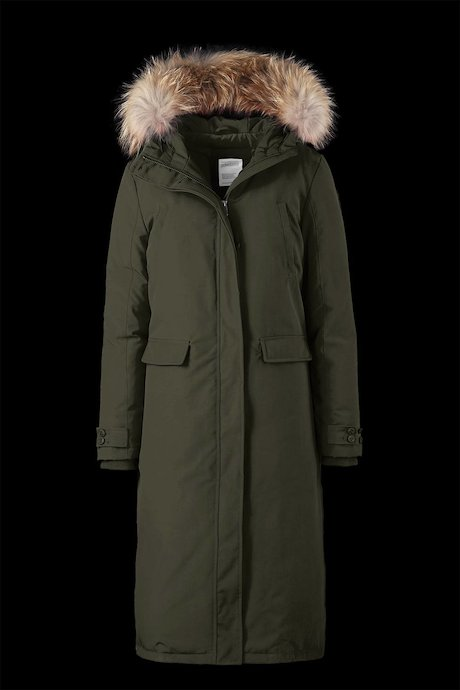 Long Padded Parka Fur Inserts