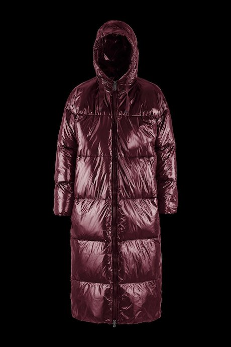 Oversized Down Jacket Laqué with Hood