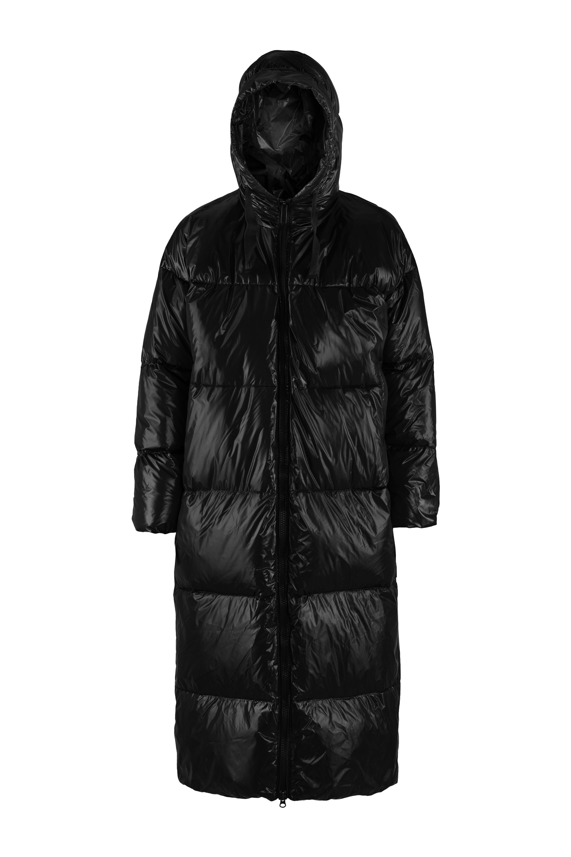 Oversized laqué down jacket