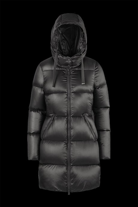 Shiny Down Jacket with Hood