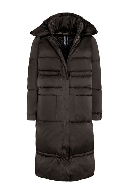 Oversized down jacket in nylon moiré