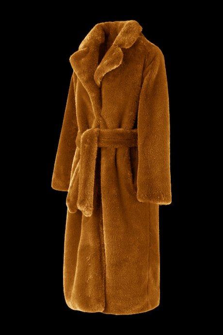 Abrigo Revers de piel sintética