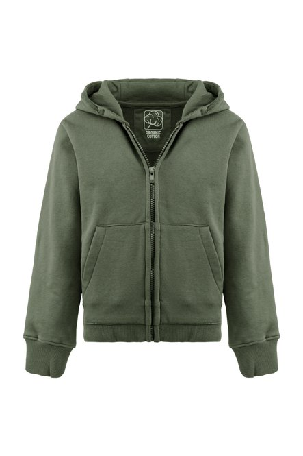 Zipped hoodie in organic cotton