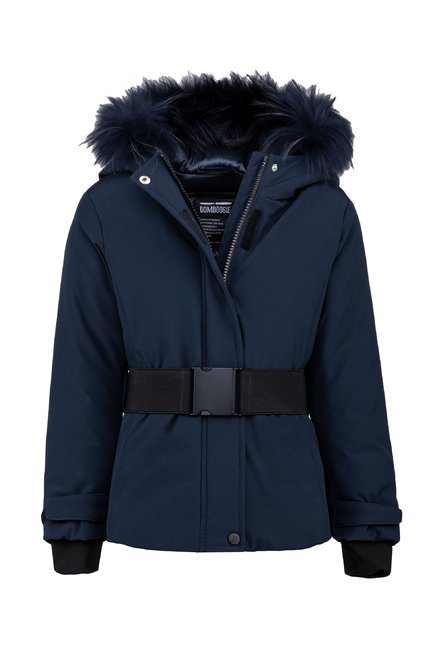 Synthetic parka with fur hood