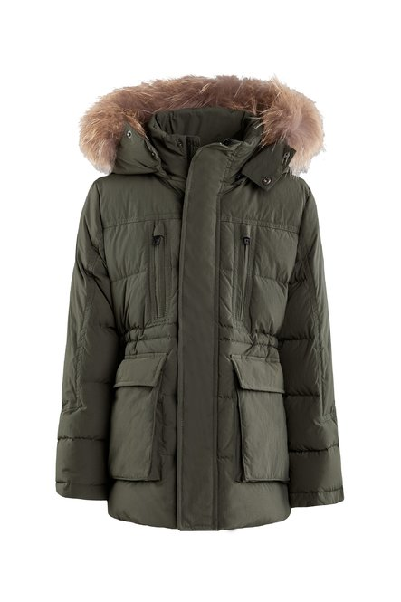 Real down jacket with real fur hood