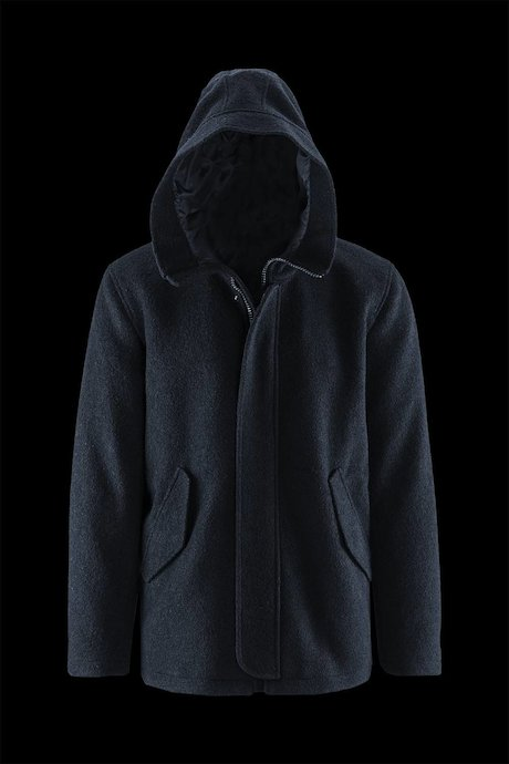 Coat Woollen Blend with Hood