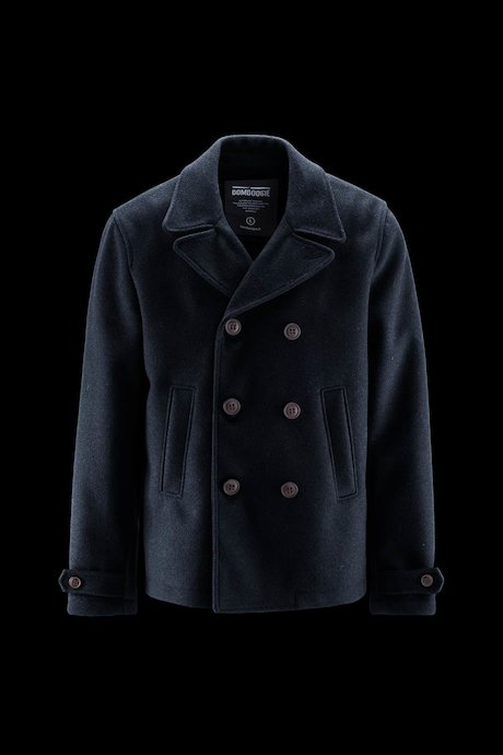 Woollen Blend Coat with Collar and Buttons
