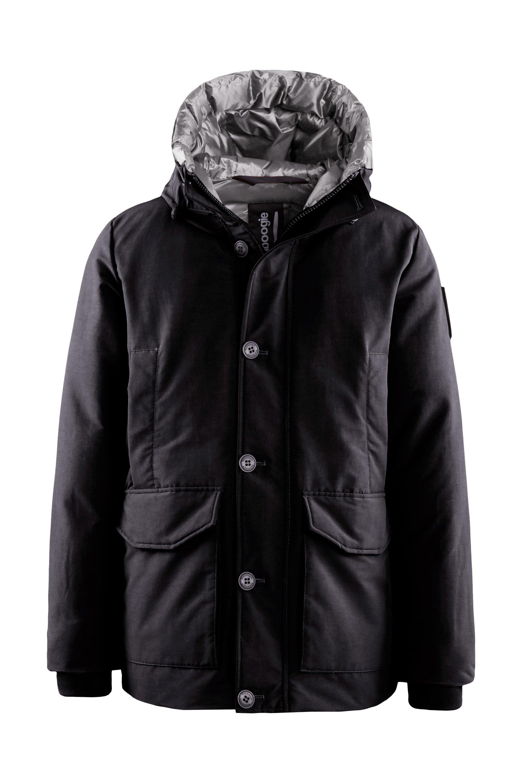 Multi-pocket down coat