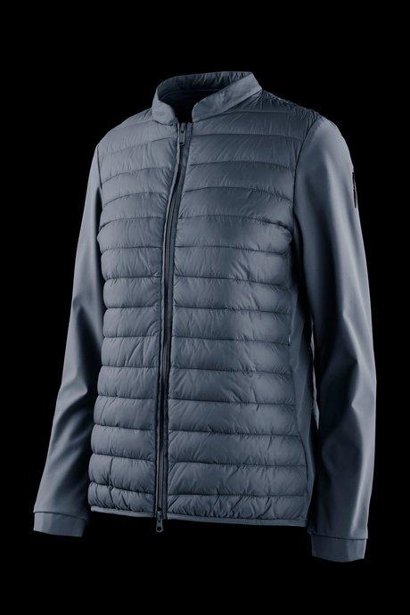 Bi material down jacket