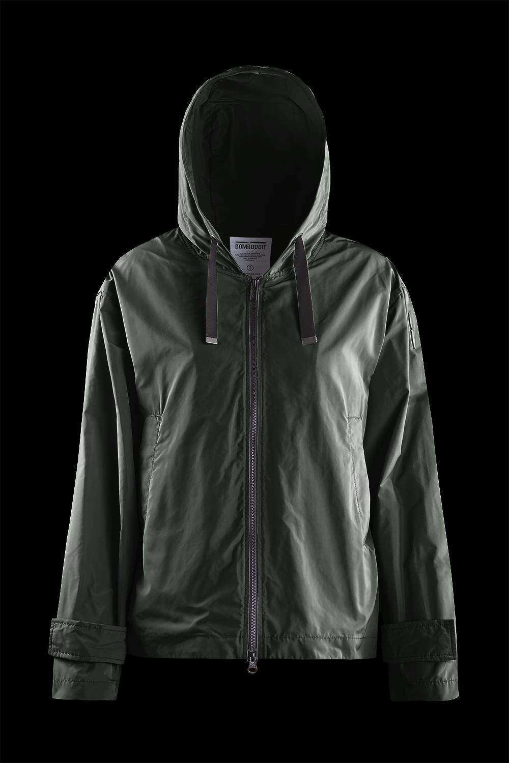 Unlined jacket with maxi hood