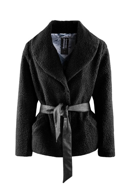 Faux fur coat shearling effect with belt