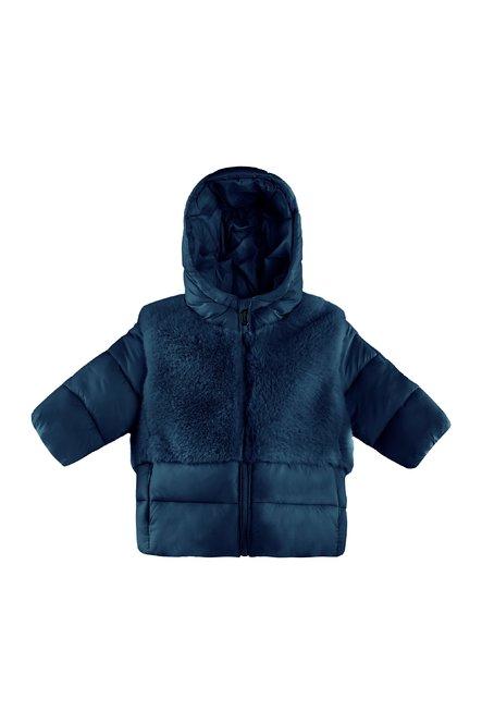 Bi material baby down jacket