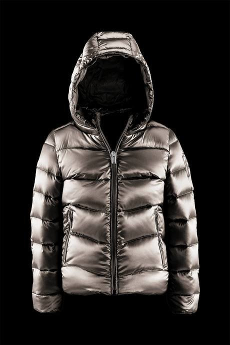 Shiny Down Jacket Detachable Hood