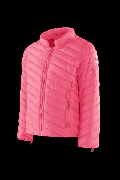 Girls's down jacket in nylon poplin