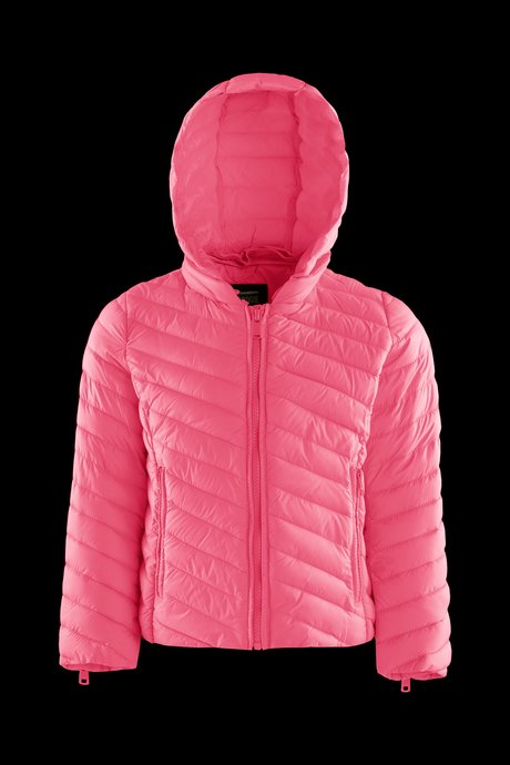 Girls's down jacket in nylon poplin