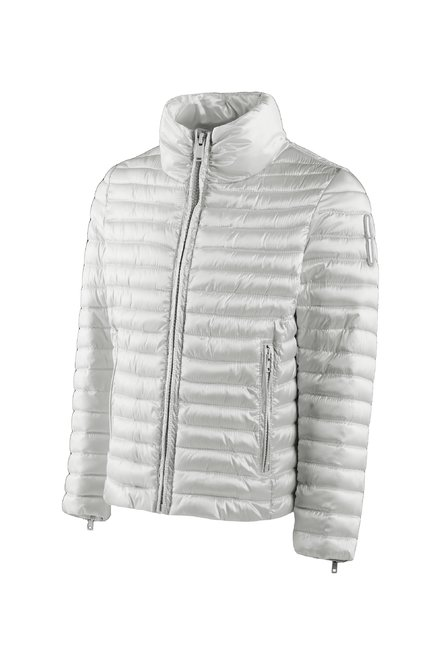 Girls' down jacket in nylon sateen