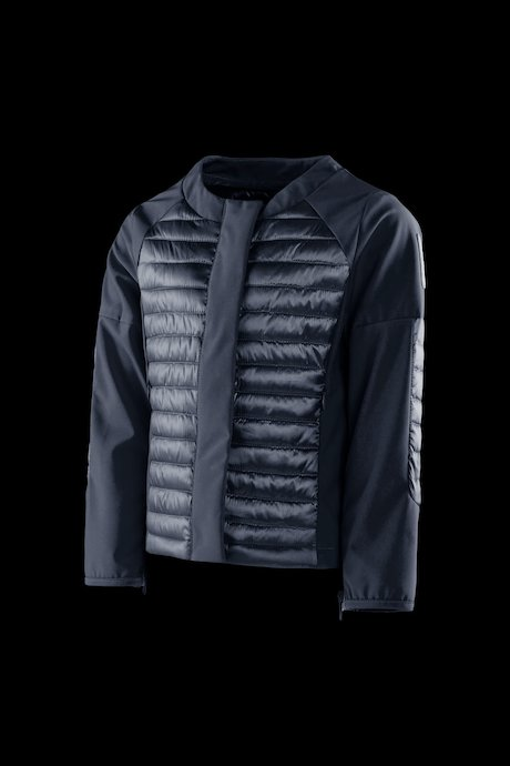 Girls' bi material down jacket