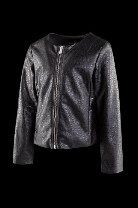 Girls' faux leather jacket