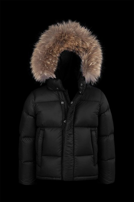 Short Down Jacket Fur Inserts