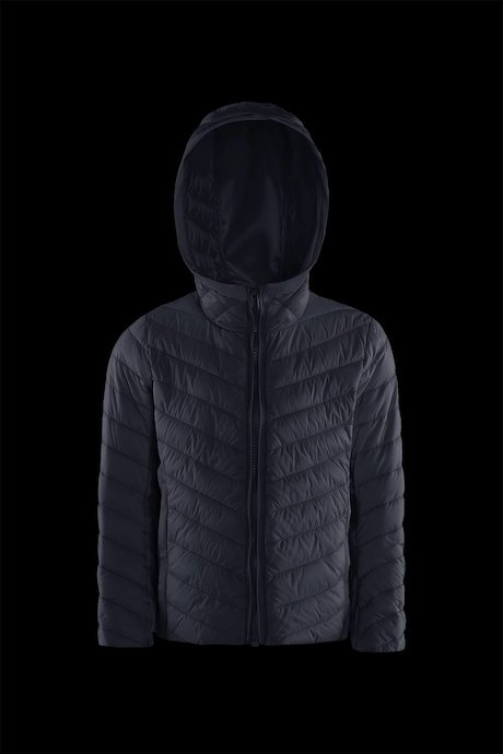 Boys' bi material down jacket with hood