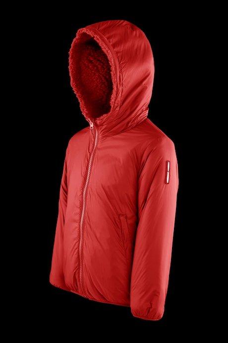 Reversible jacket with sherpa fleece