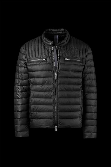 Down Jacket Biker Semi-Matt