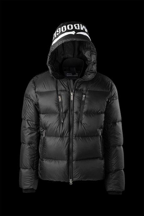 jackets Man Down Jacket Printed Logo On Hood - Bomboogie f25b9a780b4