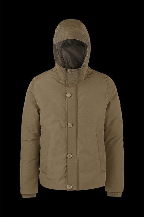 Gepolsterter Jacke mit sichtbare Knöpfe