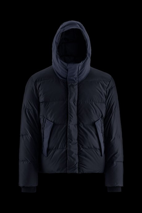 Bi material Down Jacket Lateral Zip