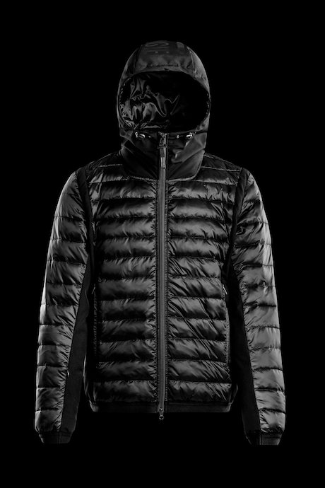 Bi material down jacket PrimaLoft® padding