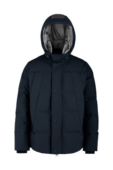 Softshell down jacket with four pockets