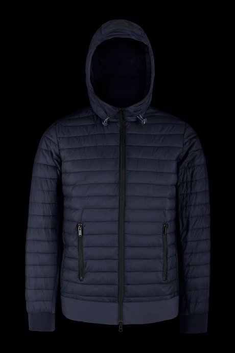 Bi-material jacket in nylon ripstop