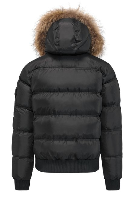 Bomber with fur inserts